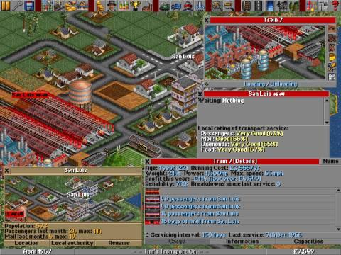Aperçu du jeu Transport Tycoon